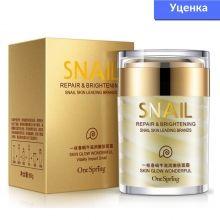 Уценка! Крем для лица с фильтратом улитки One Spring Snail Cream