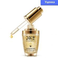 Уценка! Сыворотка для лица Bioaqua 24K Gold с частицами 24к золота и гиалуроновой кислотой 30 мл