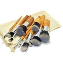 Кисти для макияжа косметические в мешке, 10 шт. + кабуки