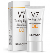 "ВВ крем BioAqua  ""Семь витаминов + гиалуроновая кислота"". toning light v 7"