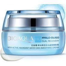 Увлажняющий крем для лица BIOAQUA Hyalo Oligo Dual Recovery Smoothing Cream с олигомером гиалуроновой кислоты 50 г