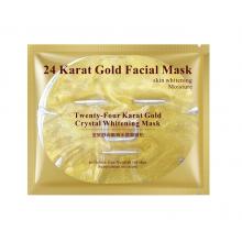 Гидрогелевая маска для лица с 24к золотом. 24 carat gold facial mask bioaqua