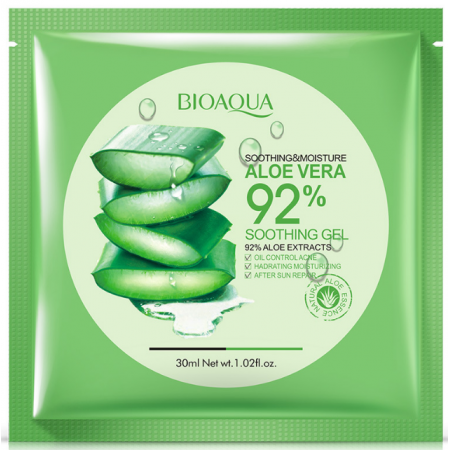 Увлажняющая тканевая маска для лица с 92% экстрактом Алоэ Вера