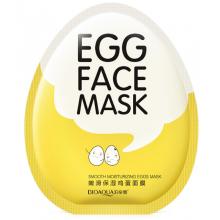 Тканевая успокаивающая увлажняющая маска для лица ЯИЧНАЯ Egg Face Mask BIOAQUA