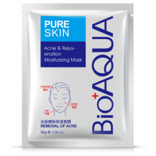 АКЦИОННАЯ ЦЕНА! Маска для лица Bioaqua Pure Skin Acne Rejuvenation Moisturising Mask, 30 грамм