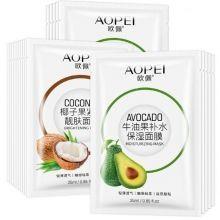 Маска тканевая с экстрактом кокоса и экстрактом авокадо Aopei