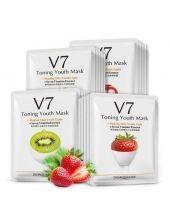 Тканевая витаминная маска с фруктовыми экстрактами Bioaqua v7 toning youth mask