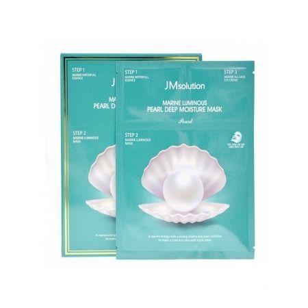 Трёхшаговый увлажняющий набор с жемчугом JMsolution Marine Luminous Pearl Deep Moisture Mask 3 шт