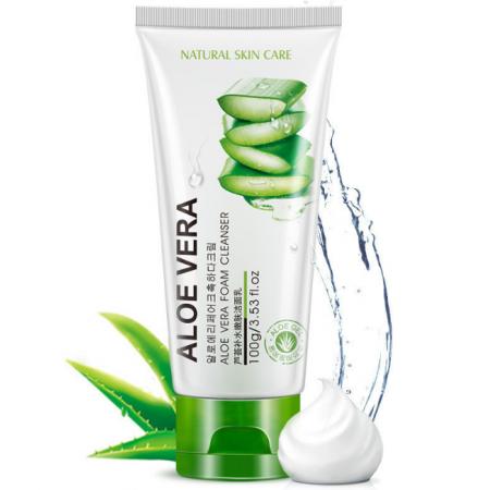 Очищающая успокаивающая пенка для умывания с экстрактом алое Natural Skin Care