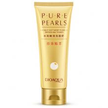 Пенка для умывания и очищения лица на основе жемчужной пудры BioAqua Pure Pearls