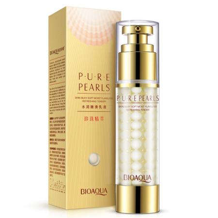 Эмульсия для лица Bioaqua Pure Pearls с жемчужной пудрой 60 мл