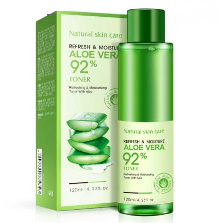 Увлажняющий восстанавливающий тонер Bioaqua Refresh&Moisture Aloe Vera 92% 120 г