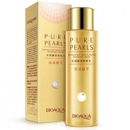 Тонер для лица с гидролизованным протеином жемчуга BioAqua Pure Pearls